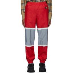 Red & Silver Bi-Color Track Pants