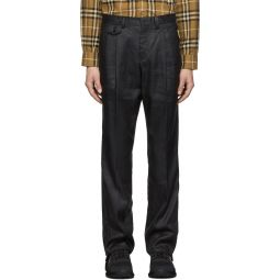 Black Linen Tailored Trousers