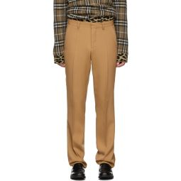 Tan Canvas Formal Trousers