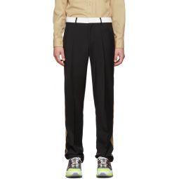 Black Stripe Tailored Trousers