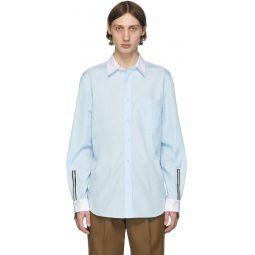SSENSE Exclusive Blue Poplin Shirt