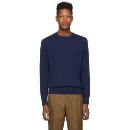 Blue Cashmere Monogram Sweater