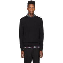 Black Monogram Collins Sweater