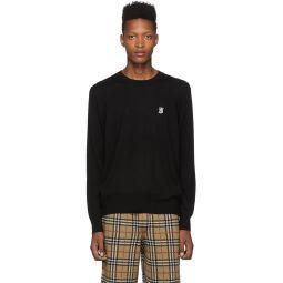 Black Merino Declan Crewneck Sweater