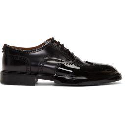 Black Leather Len Brogues