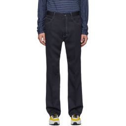 Navy Techno Whipcord Trousers