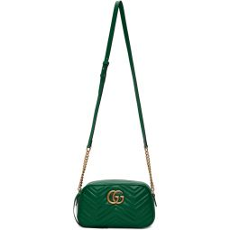 Green Small GG Marmont Camera Bag
