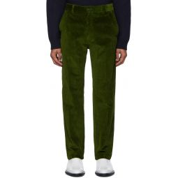 Green Straight Fit Trousers