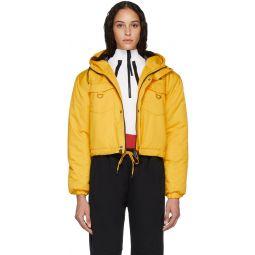 Yellow Cropped Puffer Jacket