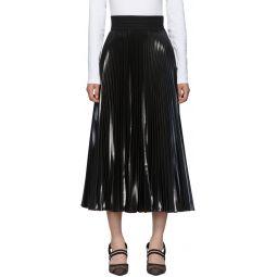 Black Pleated Resin Skirt