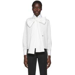 White Oversized Bow Blouse