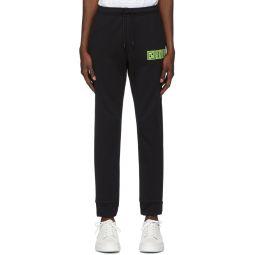 Black Fluo Logo Lounge Pants