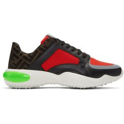 Red 'Forever Fendi' Mesh Sneakers