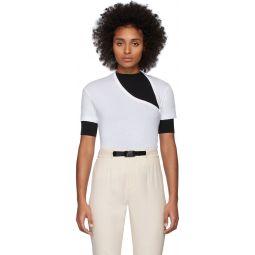 White Supima Asymmetric T-Shirt