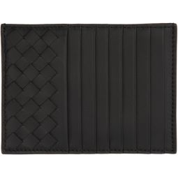 Black Intrecciato Multi Card Holder