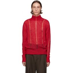 Red Submarine Rollneck Sweater