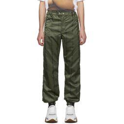 Green Logo Track Pants