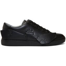 Black Logo Shard Sneakers