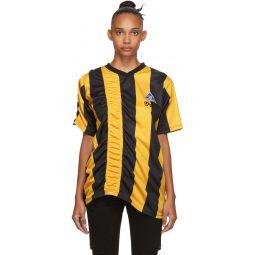 Yellow & Black Ruched Football T-Shirt