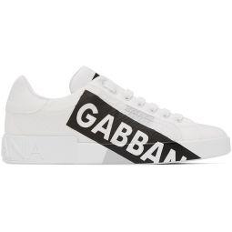 White Nylon Portofino Sneakers