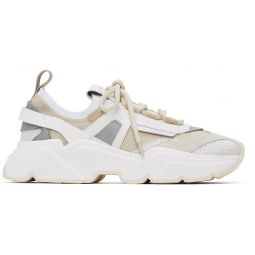 Beige Stretch Knit Daymaster Sneakers