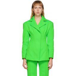 Green Sculptural Blazer