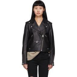 Black Baya R Perfecto Leather Jacket