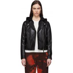 Black Leather Yoana Jacket