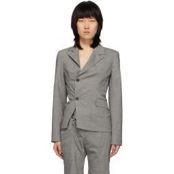 Grey Asymmetric Blazer