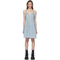 Blue Floral Slip Dress