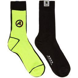 Black & Yellow Different Tissue Socks