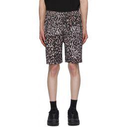 Black & Grey Ink Cat Lounge Shorts