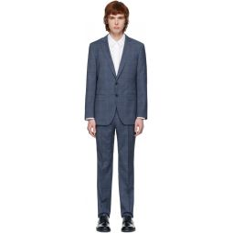 Blue Check Stretch Tailoring Suit
