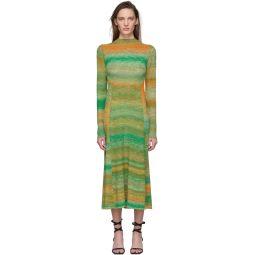 Green & Orange Space Dyed Sweater Dress