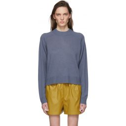 Blue Spring Cocoon Sweater