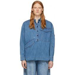 Blue Denim Oversized Cocoon Shirt