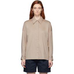 Beige Eco Poplin Oversized Shirt