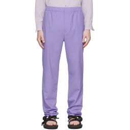 SSENSE Exclusive Purple Eamon Pull-On Trousers