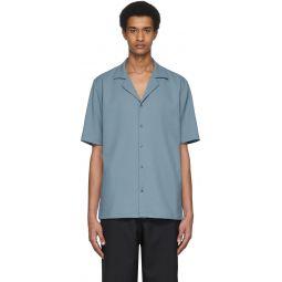Blue Chalky Drape Shirt