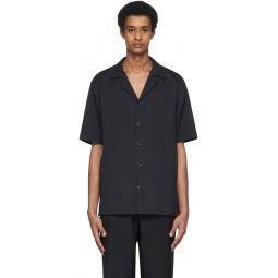 Black Chalky Drape Shirt