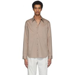 Beige Eco-Poplin Classic Shirt