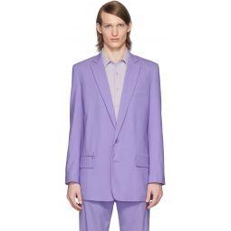 SSENSE Exclusive Purple Eamon Long Blazer