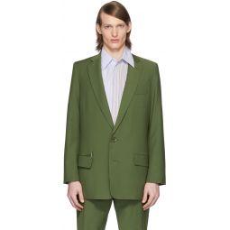 SSENSE Exclusive Green Eamon Long Blazer