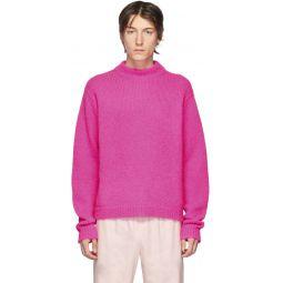SSENSE Exclusive Pink Alpaca Sweater