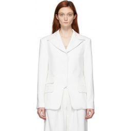 White Single-Breasted Blazer