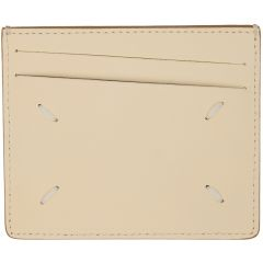 Beige Bicolor Classic Card Holder