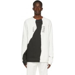 Off-White & Black Tear Sweatshirt