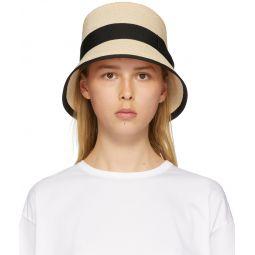 Beige Abaca Porkpie Hat