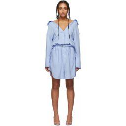 Blue Shrugged Off Shirt Dress