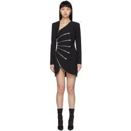 Black Sunburst Zip Dress
